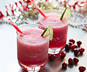 Pucker Up drink with vodka and cranberry juice