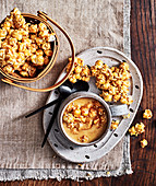 Salted caramel white chocolate wit caramel popcorn