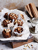 Ginger, carrot and apple muffins