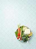 Ingredients for vegeterian, Asian meals