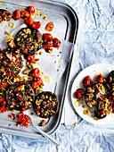 Mushroom and almond Picada