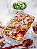 Italian sausage rigatoni bake