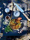 Barbecue marinade for Cote De Boeuf