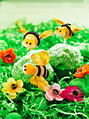 Buzzing bee muffins