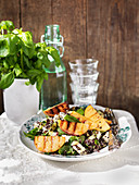 Grilled nectarines with quinoa
