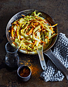 Ayurvedic Chinese cabbage stir fried with coconut milk