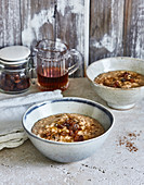 Ayurvedic porridge with raisins, cardamom and cinnamon