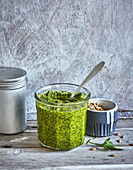 Parsley pesto with turmeric and sunflower seeds