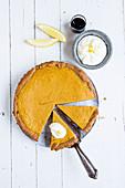 Pumpkin tart with a quark base