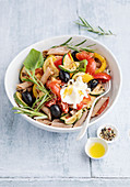 Mediterranean vegetables and pasta