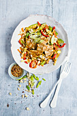 Pointed cabbage and peanut salad with chicken