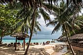 The beach on the island of Koh Phangan, Thailand