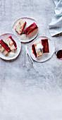 Upside Down Rhubarb Ginger and Hazelnut Cake