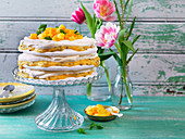 Easter cake withpassionsfuit and papaya