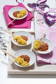 Spaghettispiesschen mit Fleischsauce