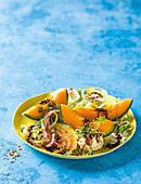 Fenchelsalat mit Mozzarella und Melone