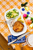 Cordon bleu with potato salad