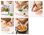 How to prepare cordon bleu with pea cream
