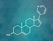 Abiraterone prostate cancer drug, molecular model