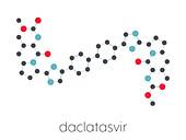 Daclatasvir hepatitis C virus drug, molecular model