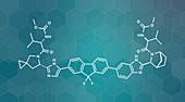 Ledipasvir hepatitis C virus drug, molecular model