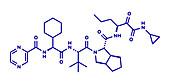 Telaprevir hepatitis C virus drug, molecular model