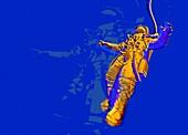 Astronaut in space suit, illustration
