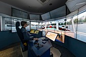 River Thames virtual reality pilot training simulator