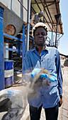 Excrement treatment site in Senegal