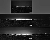 Evolution of Tucson city lights, 1959 to 2003