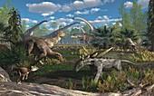 Cloverly Formation fauna, illustration