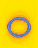 Abstract circles spinning and rotating.