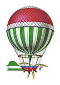 Blanchard's first Channel-crossing balloon, 1785