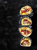 Frühstücks-Burritos zum Mitnehmen