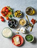 Italian ingredients for antipasti