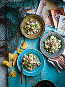 Aguachile (A Mexican dish made of shrimp)