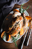Orange Rosemary Roasted Chicken