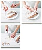 Preparing calamari