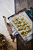 Baked breaded zucchini Roll-ups
