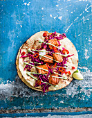 Baja-style spicy fish tacos