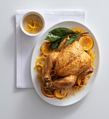 Orange and rosemary capon