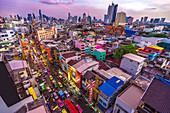 Blick vom Hotel 'Royal Bangkok' auf Yaowarat Road, Bangkok, Thailand