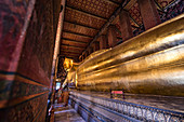 Reclining Buddha, Wat Pho, Rattanakosin, Bangkok, Thailand
