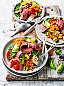 Mediterranean beef and farro salad (Low Carb)