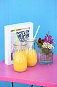Summer mango yoghurt drinks with cardamom