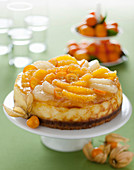 Festive citrus cheesecake
