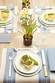 Herb and vegetable pies for Easter