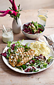 Butterflied balsamic chicken with potato mash