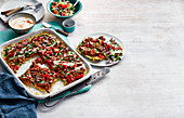 Turkish style lamb flatbread with minced meat