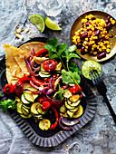 Vegetarische Taco-Platte